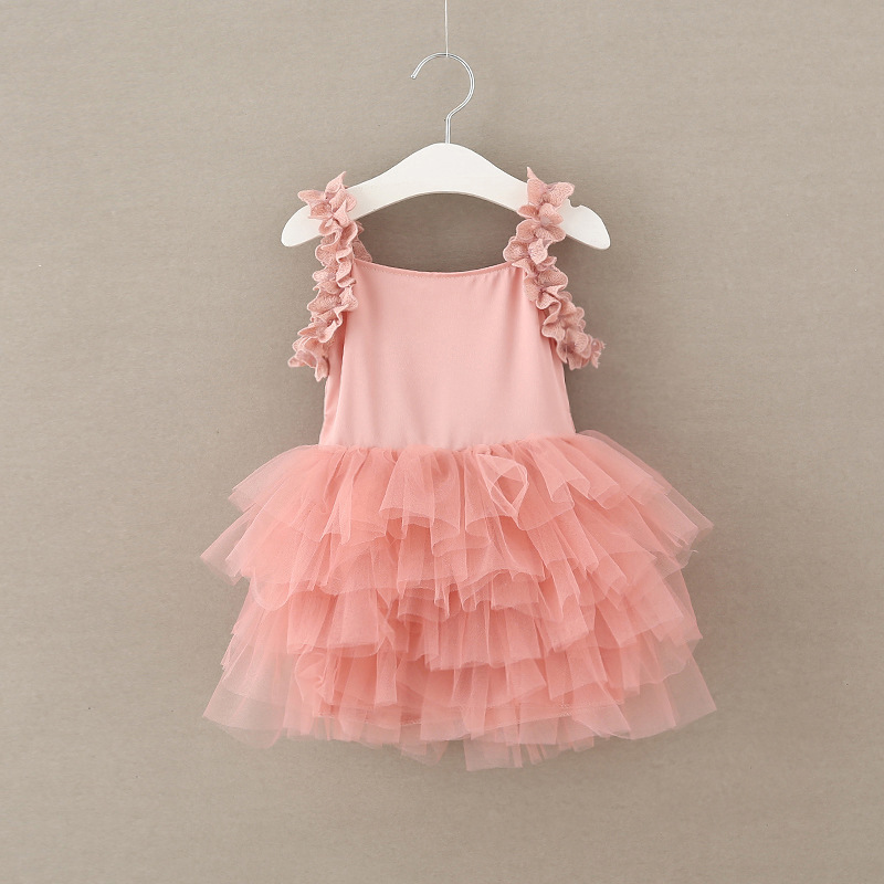 girl summer dresses party and wedding kids dress party cake baby dress 2017 Girls Fashion Lace Tulle tutu Princess Dress<br>