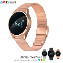 EPiCfeat Heart Rate Blood Pressure Smart Watch Android iOS Pedometer Sport Calorie Sleep Tracker Stainless Steel Strap M7 - Store store