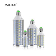 1Pcs No Flicker E27 10W 15W 20W 25W 30W 50W LED Corn Bulb SMD5730 110V / 220V LEDs lamps Spot light Chandelier Aluminum Cooling(China)