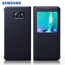 Samsung Original View Flip Case for Samsung Galaxy S6 Edge Plus G928 Leather Cover Couqe Phone Shell For Samsung S6 Edge Plus(China)