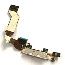 QSMHYM For iPhone 4S Flex Cable Microphone Charger Dock Charging Port Flat Cable Good Quality(China)