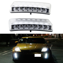 Discount!!! Latest New 7 SMD LED DRL For Nissan 12V waterproof 14W high power LED Daytime Running Light free shipping