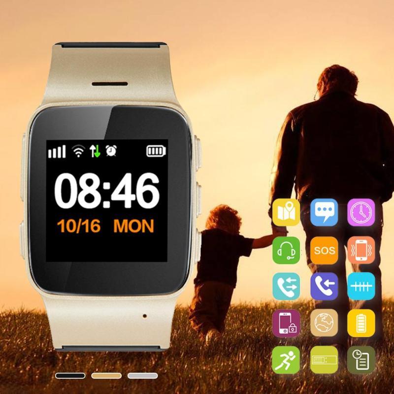 Elderly Children GPS Smart Watch D99 Plus Cell Phone SOS Fitness Tracker Wristwatch Remote Monitoring Voice Intercom Watches D <br>