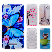 AKABEILA Soft TPU Phone Case For Wiko Lenny 2 II/Lenny2 Lenny II Butterfly Painted e Cover Cell Phone Skins Cases SCAN01(China)