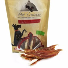 2 Bags Pet Cuisine Pet Dog Health Meat Treats Puppy Chewy, Duck Jerky & Pigskin Sticks, 100g(China)