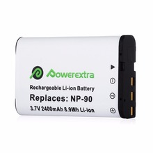 Powerextra 2400mAh NP-90 Replacement 3.7v Li-ion Camera Battery For Casio Exilim Hi-Zoom EX-FH100 EX-H10 EX-H15 EX-H20G(China)
