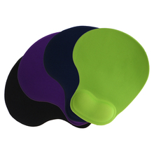 Solid Color Comfortable Gel Mouse Pad Anti-Slip Memory Foam Wrist Rest Support