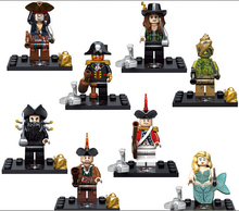 NEW hot 8pcs/set Pirates of the Caribbean On Stranger Tides Jack Sparrow Action Figures Building Blocks Bricks Compatible toys(China)