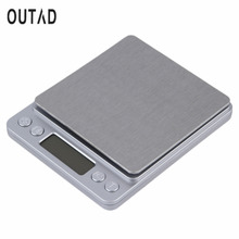 1pcs High Accuracy Mini Digital Scale Electronic Scale Platform Jewelry Gold Diamond Scale 500g/0.01g Weighing Balance Blue LCD(China)