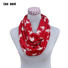 New Fashion contton women Infinity Scarf Animal Elephant print winter ring Scarf and Scarves red Loop Scarf femme Shawls wraps