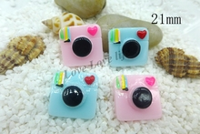21MM Kawaii  camera  flatback resin cabochon for phone deco  hair bow diy  Scrapbook Embellishment Free shipping
