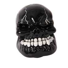 Universal Manual Gear Stick Shift Shifter Lever Knob Wicked Carved Black Skull Gear Handle Covers