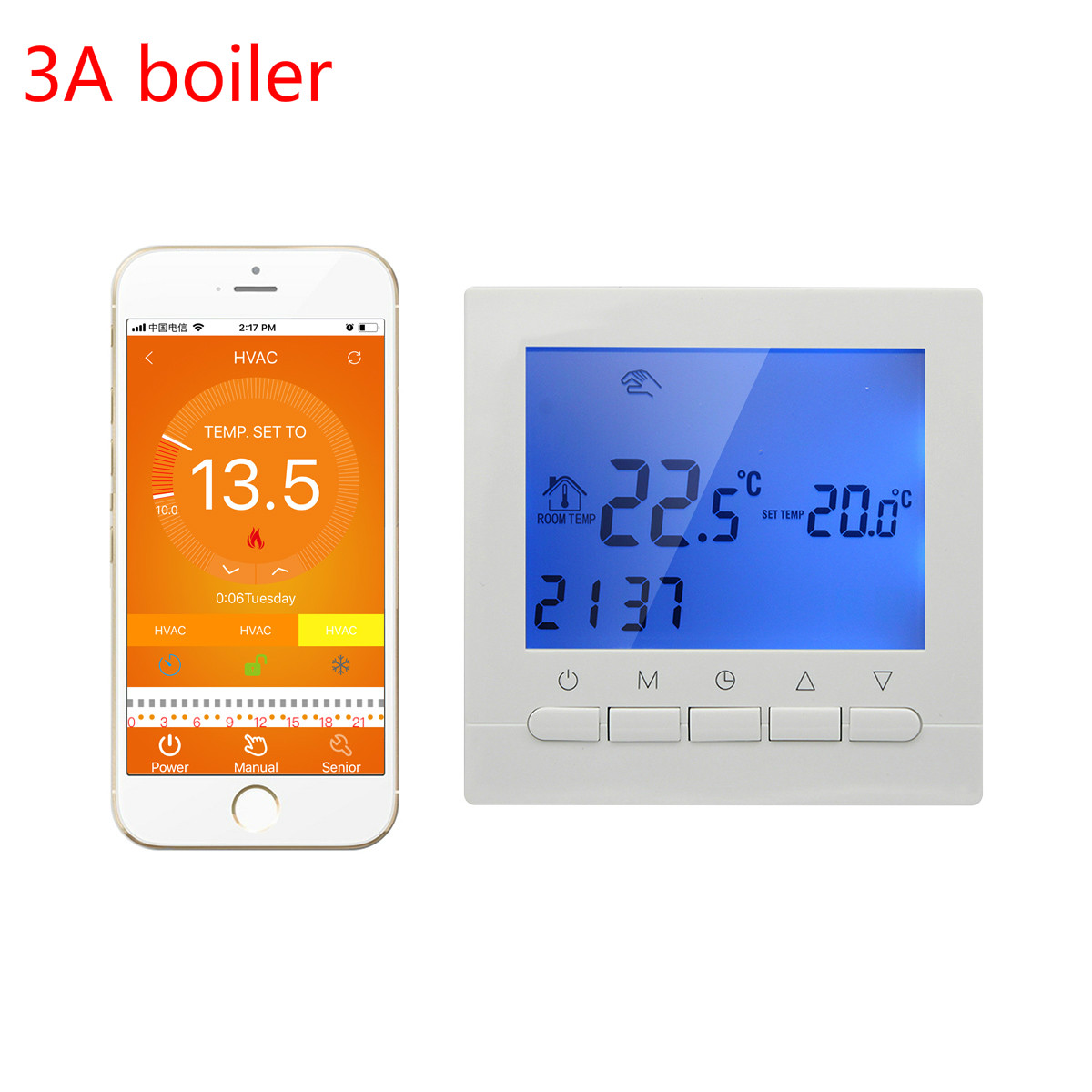 3A Thermostat boiler gas wifi  smart thermostat wall heating controlled by smart phone APP regulator weekly programmer 220V<br>