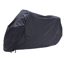 Black Motorcycle Motorbike Waterproof Water Resistent Rain UV Protective Breathable Cover Outdoor Indoor with storage bag 2XL