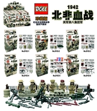 60pcs World War II North African Campaign United Kingdom Eighth Army Military building blocks action figure bricks toys for kids