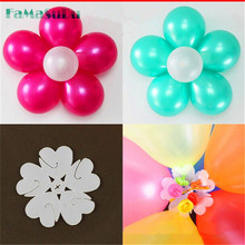10pcs/lot Balloon Seal Clip That Combine 5 Balloons to Flower Shape Multi Balloon Sticks Balloon Accessory