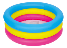 Free shipping!76x25cm colorfull 3 rings inflatable Baby pool kids pool playing swimming pool ( 76cm x 25cm /30in x 10in)(China)