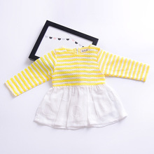 Girls dress little girl fashion long-sleeved cotton dress children's princess dresses the spring and autumn 1-4 years