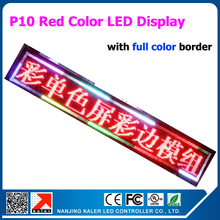 P10 USB Programmable Advertising LED Display Sign Board Red Color Display 49*272cm LED Sign Board with Full Color Border(China)