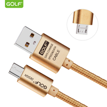 GOLF 3m Fast Charging Micro USB Data Sync Charge Cable For Samsung S4 S6 S7 Edge LG G3 G4 Redmi Note2 Android Phone Charger Wire