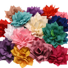 10pcs Sharp angled 7.5cm Lotus flowers Hair Accessories Flower Boutique Accessory Wedding decoration flower No Hairclips(China)