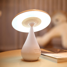 Fashion Mushroom Design 2 IN 1 Negative Ion Air Purifying LED Desk Lamp,Smoke Cleaner,Rechargeable Touch Control LED Night Light
