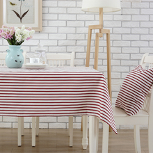 Free shipping Cotton Tablecloths Rectangular Stripe Table cloth Simple Tablecloth Home Cover towel Piano Cover cloth Sofe towel