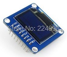 0.96 inch SPI Yellow Blue OLED Vertical Display Module with Straight Pinheader SSD1306 IC 128*64 I2C Interface(China)