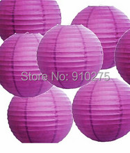 "DIY 24 pcs/lot 12"" Purple Paper Lanterns Chinese Lanterns for Wedding Party Decoration Holiday Supplies(China)"