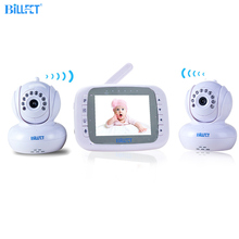 Wireless Video Baby Monitor 2 Cameras 3.5 inch LCD Baby Sleeping Monitors Video Nanny Infrared PTZ Remote Video Camera Bebe