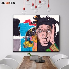 American Hipster Graffiti Artist Posters Illustration Portrait Canvas Print Painting Posters, Wall Pictures For Home Decoration