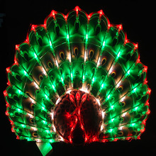 New Year Lantern New Year decoration wedding marriage room layout window decorative peacock LED holiday garden lawn lights