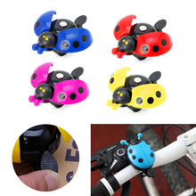 Kid Children Bicycle Bell Ladybug Bike Cycling Handlebar Ring Sound Bell Horn Alarm(China)