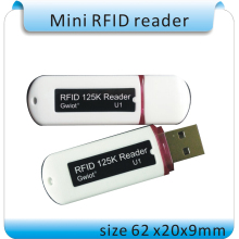 Free shipping Newest Mini USB 125KHZ RFID Reader for iPad Android Mac Windows Linux 10bit output +10pcs cards(China)