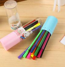 12Pcs/Set 12 Colors Washable Watercolor Pens Marker Painting Pen Children Drawing Kids Art Pen Supplies