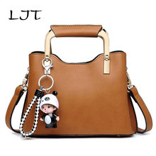 LJT Women Professional Handbags New Simple Autumn Winter Luxury Handbag Leisure Brand PU Leather Shoulder Bag Tassel OL Hand Bag(China)