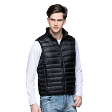 2017New Men's Warm Ultralight Down Jackets Vests Men Solid Thin Winter Vest Male Lightweight Coats,Outdoors Brand Clothing,SA024