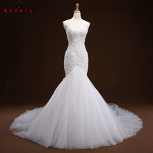 Buy Sexy Wedding Dresses Mermaid Sweetehart Lace Beading Long Formal White Wedding Gowns 2018 New Vestido De Noiva Custom Size WD58 for $229.75 in AliExpress store