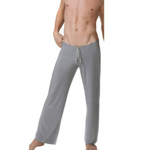 New Arrival Viscose Fabric Casual Trousers Ultra-thin Strap Pajama Pants Super Smooth Lounge Pants(China)
