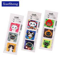 6PCS Cartoon Cute Cat Bookmark Kawaii Paper Magnetic Bookmark Clips School Office Supplies Stationery for Kids Student Child