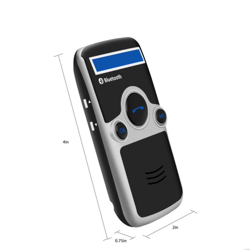 E0176-(with LCD display)Solar Bluetooth Car Kit Handsfree-6 (2)