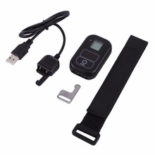 For GOPRO Hero 2/3/3+/4/4S/5/5S sport camera Black Wireless Wifi Remote Controller With Wrist Band Key Ring wifi charging cable