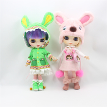 Free shipping pink dog Set&Green animal Set suitable for 1/6 blyth and ICY doll DIY fashion accessoires BJD licca doll reborn
