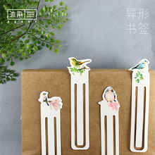 30pcs/box Creative Cute Birds Paper Bookmark Stationery Bookmarks Book Holder Message Card Office School Supplies Papelaria