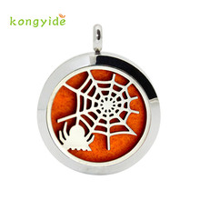 Stainless Halloween Locket Necklace Aromatherapy Fragrance Essential Diffuser Pendant fashion drop shipping 17augu23