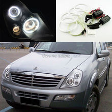 For Ssangyong Rexton 2003 2004 2005 Excellent Ultra bright illumination CCFL Angel Eyes kit Halo Ring