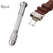 Cymii Round Steel To Take The Four-headed Hand Twist Drill Repair Table Tools Watch Straps Watchbands Repair Tool Kits(China)