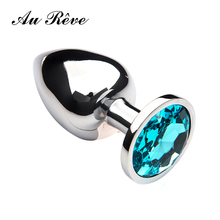 Buy Au Reve Large Size Metal Anal Plug Colorful Rhinestone Good Quality Butt Plug Anal Sex Toys Men Women Couple