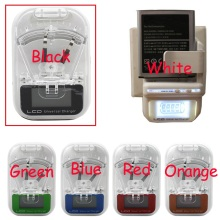 EU /US PLUG Universal Battery Charger LCD Indicator Screen For Cell Phones USB Charger Samsung Battery Charger  + Tracking