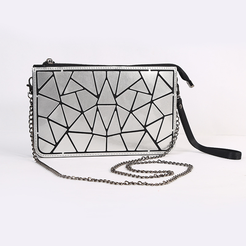 BEWITU Fashion Laser Clutches Bag Women Hand Bags Summer Geometric Bao Shoulder Bag Ladies Famous Brands Mini Size Big<br>